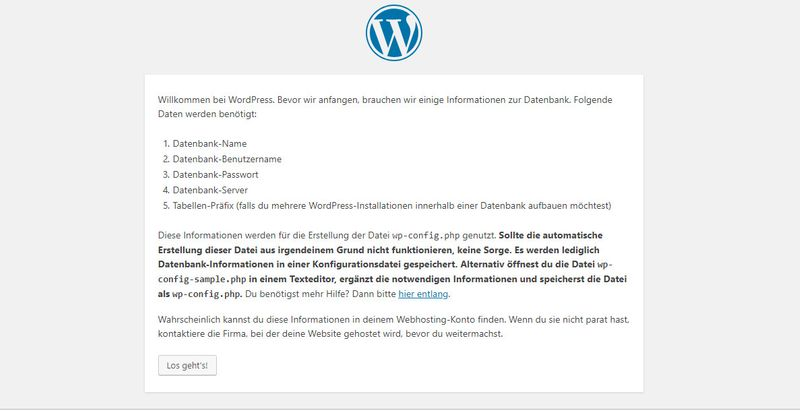 Wordpress Tutorial - Willkommens Message - Deutsch