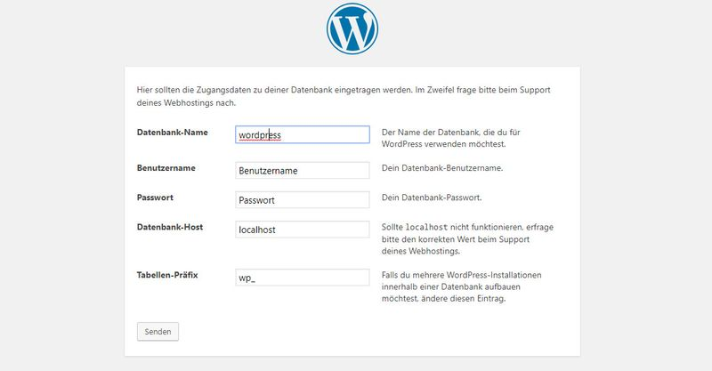 Wordpress Tutorial - Datenbank verbinden - Deutsch