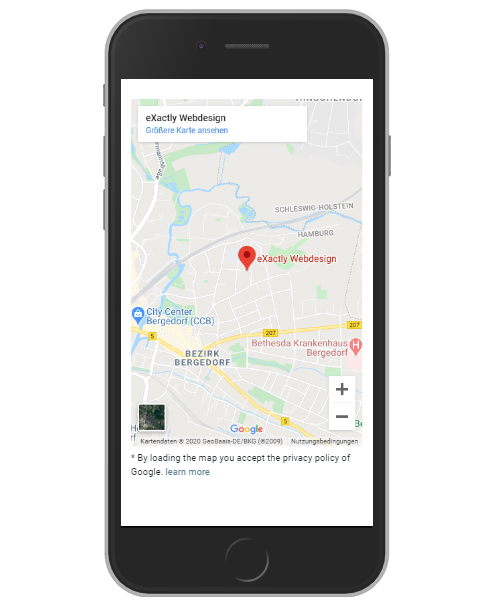 Google Maps mobile Ansicht - IPhone