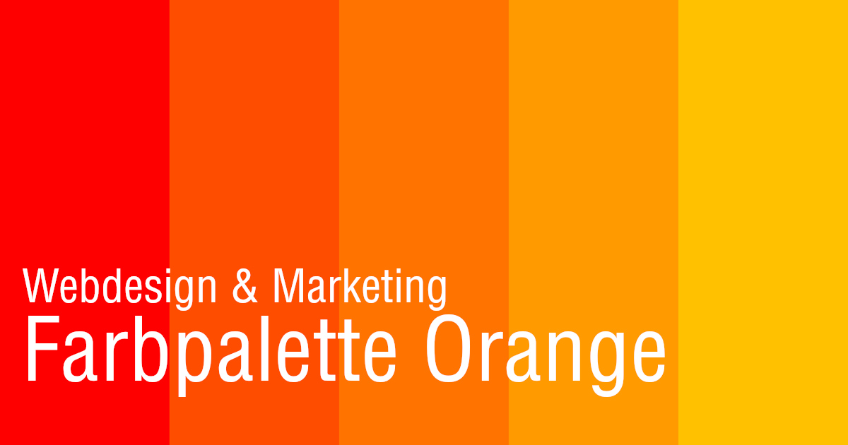 Farbpalette Orange