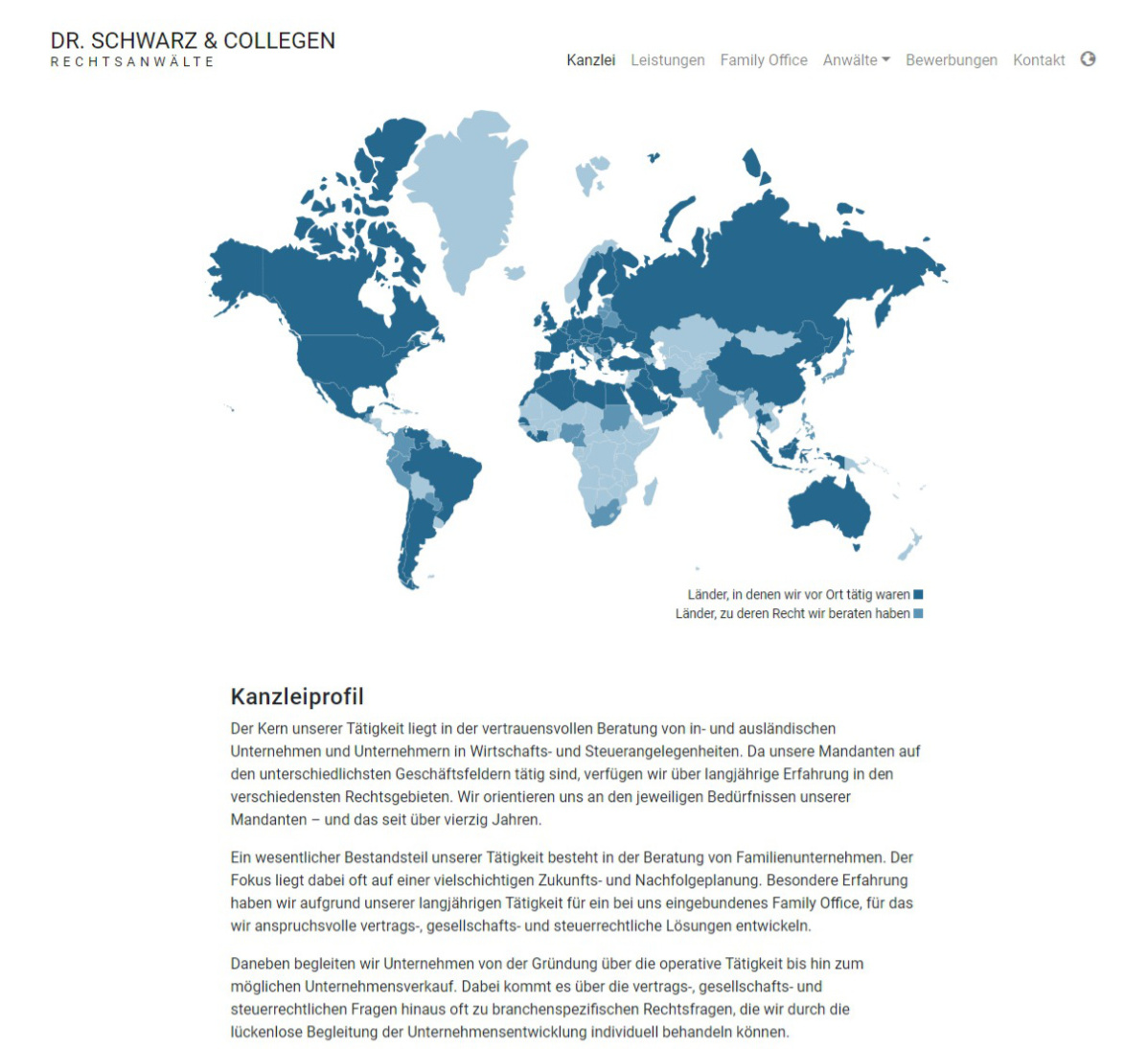 Dr. Schwarz & Collegen - Webdesign Website