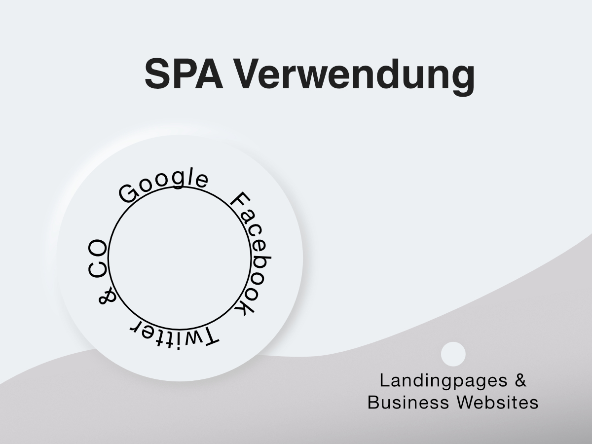 Single Page Application Verwendung
